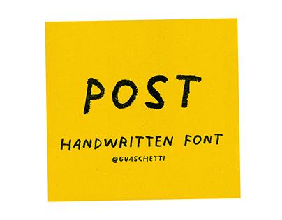 P O S T Free Handwritten font
