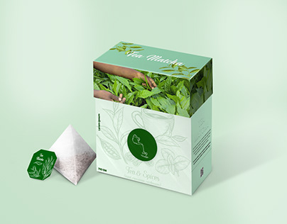 Discover what is not discovered. | Green tea packaging.