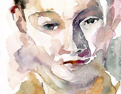 Watercolor (portrait studies)