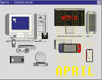 April — Illustration