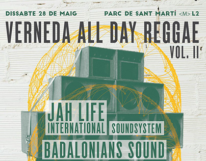 Carteles Verneda all day Reggae.