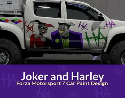 Joker and Harley Forza Motorsport 7 Car Paint Design