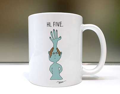 Meet Five. Mug, Gretting Card.