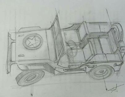 Automotive sketching