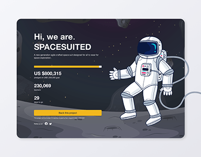 Crowdfunding campaign - Daily UI 32