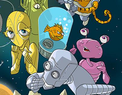Space scene illustration