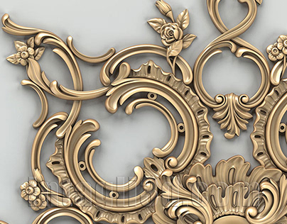 3D-model of decorative сeiling socket for gypsum making