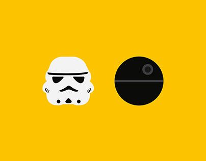 Star Wars & 2001| Minimal illustration