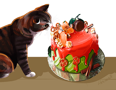 Cake and Cat:)