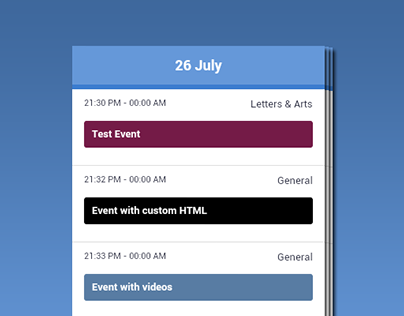 Ajax Full Featured Calendar Android App