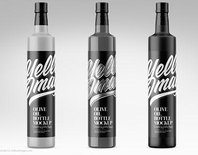 Olive Oil Bottle + Free Mockups