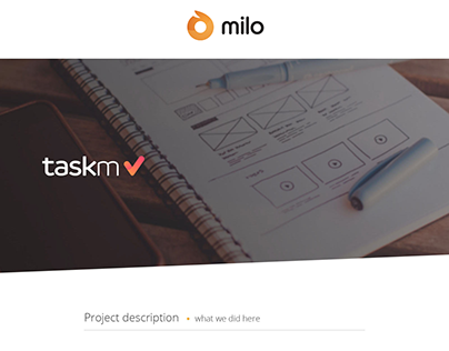 TaskM UX Design - by Milo