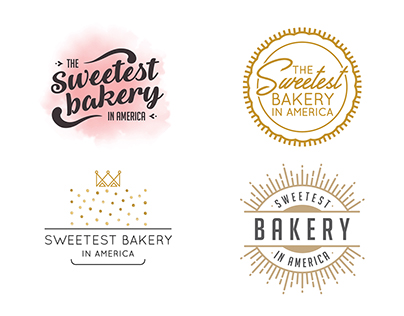 Sweetest Bakery in America Logos