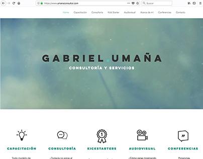 Diseño Web para Gabriel Umaña Consultor