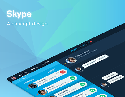 Skype Redesign Concept UI