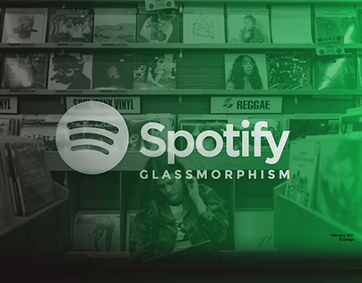 Spotify Glassmorphism | UI Design Practice