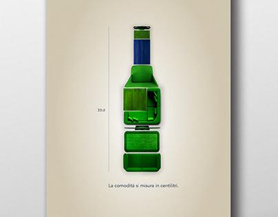 Bavaria Print ADV exercise // La birra di casa.