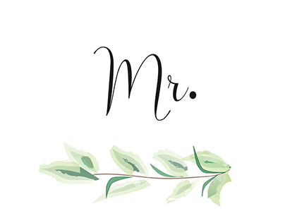 White Brick Wedding Placeholders