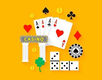 Gambling Flat Icons. Casino Concept
