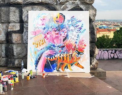 live painting / O2_Cz