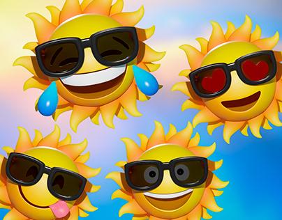 Emoji 3D Sol