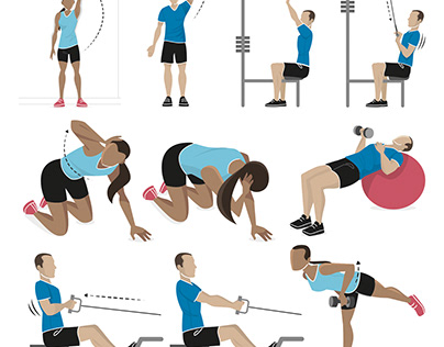 Exercise Illustrations for Velopress publishing