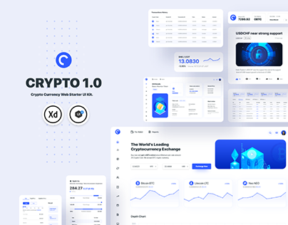CRYPTO 1.0 Crypto Currency Web Starter UI Kit.