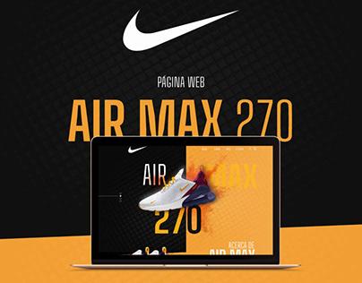Página Web Nike / AIR MAX 270