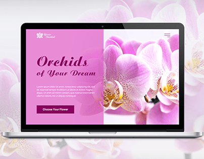 "Landing Page ""Your Orchid"""
