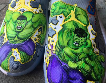 Jordan's Custom Shoe Design - The Incredible Hulk