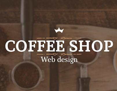 "Web design Landing Page ""Coffee shop"""