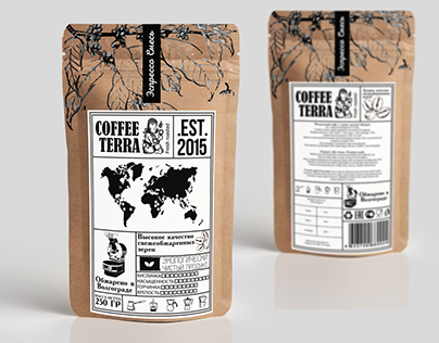 "Development of coffee packaging ""COFFEE TERRA"""