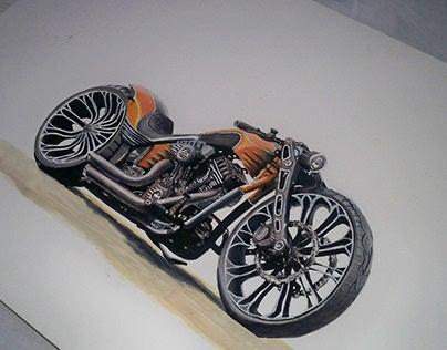 Illustration Handmade | Motorcycle