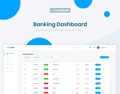 HomeBank - Banking Dashboard