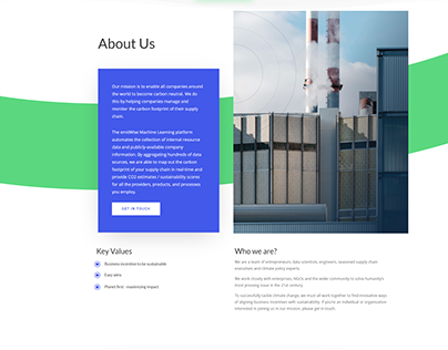 Website design for a startup