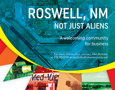 Roswell Airport Wall Ad