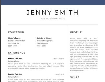 resume template word modern clean