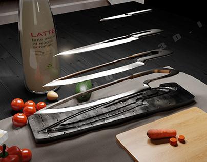 Set modular knives and setting 3D