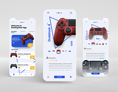 UIUX design for dual shock 4 purchase page