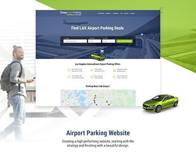 Airport Parking Website Design