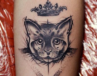 Crown + Cat + ▼ Tattoo