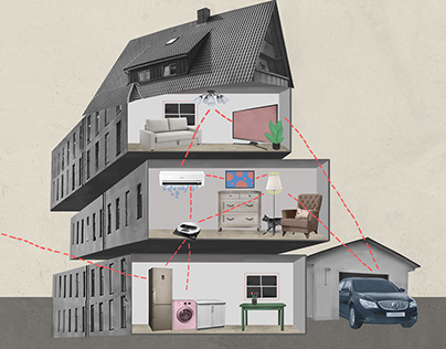 Collage illustration for video about Samsung history