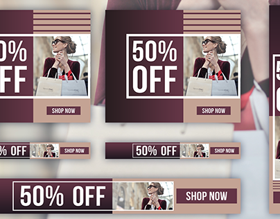 Shopping Banner Ad Designs