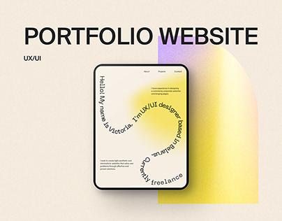 Portfolio Website Design. UX/UI