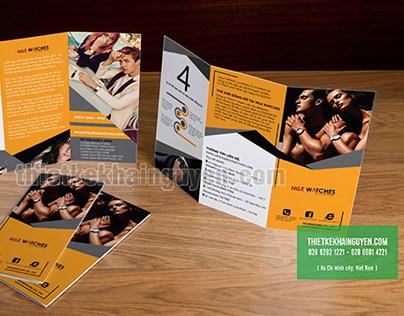 Brochure design - trifold brochure template