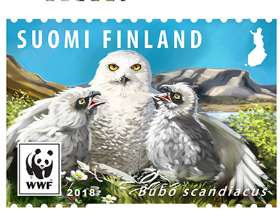 Endangered species post stamps for Posti Finland 2018