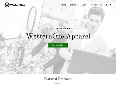 WesternOne Landing Page Design