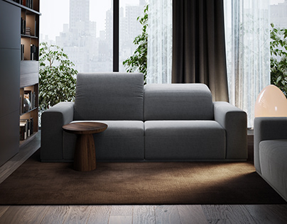 Furniture visualization. Double sofa