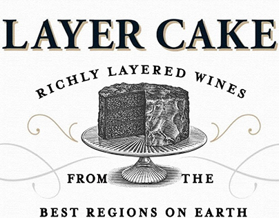 Layer Cake Wine Label Illustrated by Steven Noble
