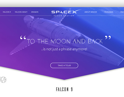 SpaceX Space Tourism Concept Website UI